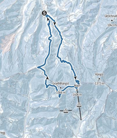 Map / Von Luthern Bad auf den Napf