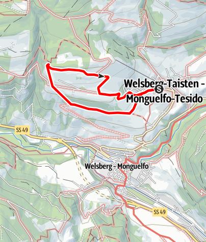 Mappa / Sentiero delle Fiabe a Tesido