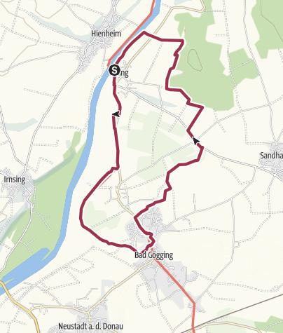 Karte / Römerschlaufe am Jurasteig