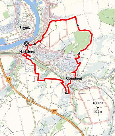 Karte / TraumRunde Marktbreit-Obernbreit