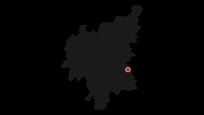 Karte / TraumRunde Wiesenbronn mit Zugangsweg von Kleinlangheim