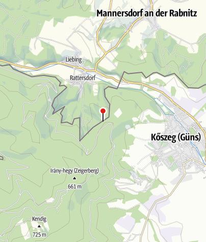 Karte /  Saint-Germaini kereszt (Rattersdorf)