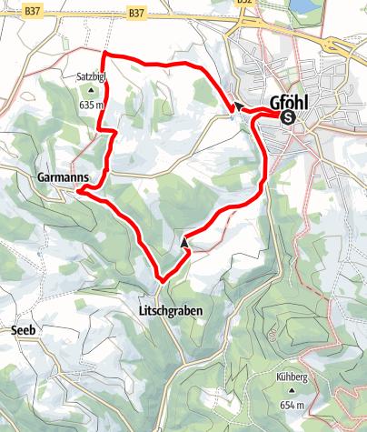 Mapa / Grabenwanderung