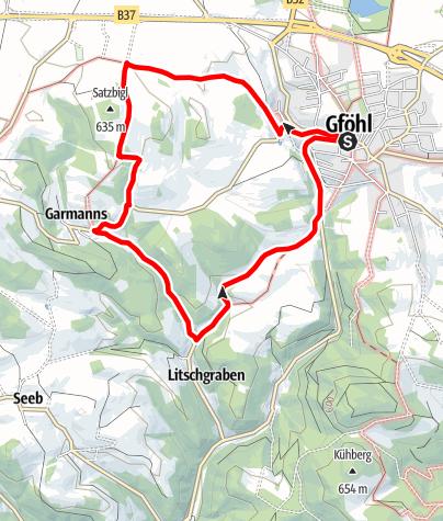 Karte / Grabenwanderung