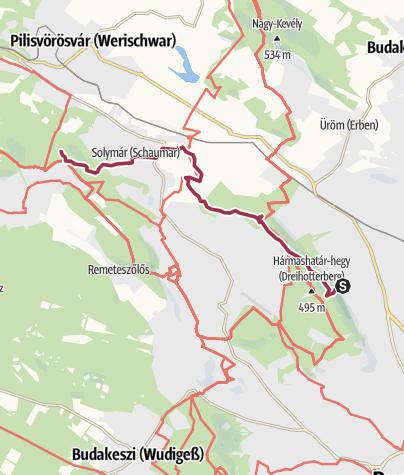Karte / Várrom, bányató és fenyőerdő egy karnyújtásnyira a fővárostól