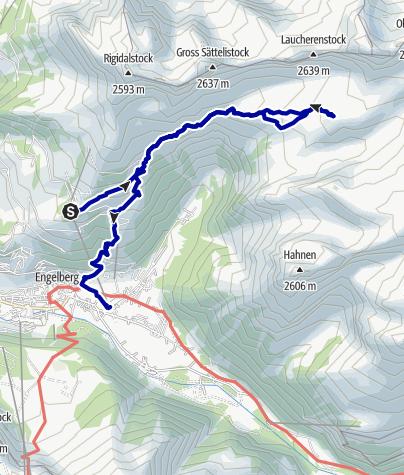 Kaart / Rugghubelhütte (2290m.ü.M.)