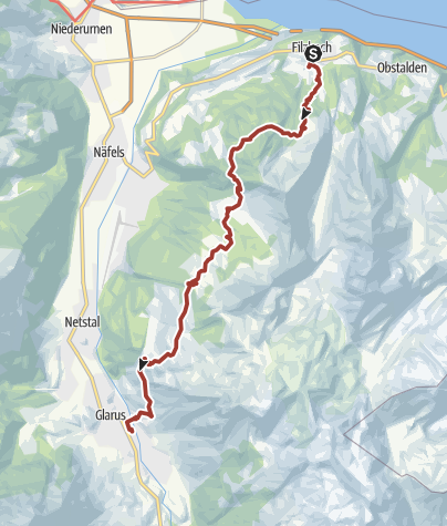Karte / Schabziger Höhenweg