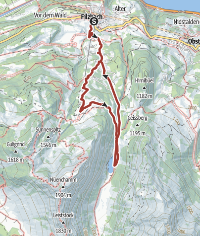 Karte / Geo-Phänomen Kerenzerberg