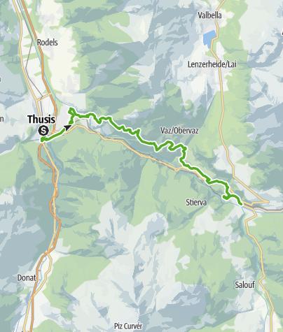 Map / 33.01 Thusis - Tiefencastel, Via Albula/Bernina