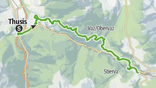 Karte / 33.01 Thusis - Tiefencastel, Via Albula/Bernina
