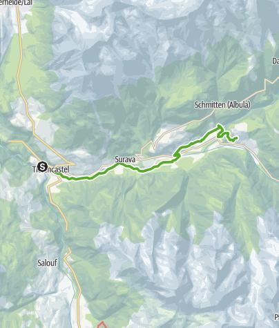 Map / 33.02 Tiefencastel - Filisur, Via Albula/Bernina