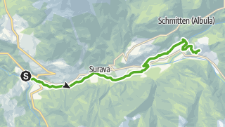 Karte / 33.02 Tiefencastel - Filisur, Via Albula/Bernina