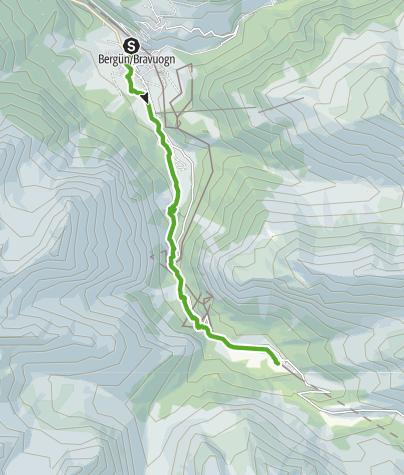 Kaart / 33.04 Bergün - Preda, Via Albula/Bernina