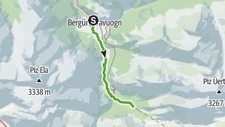 Karte / 33.04 Bergün - Preda, Via Albula/Bernina