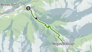 Karte / 33.03 Filisur - Bergün, Via Albula/Bernina
