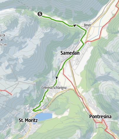 Map / 33.06 Spinas - St. Moritz, Via Albula/Bernina