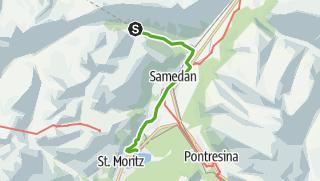 Karte / 33.06 Spinas - St. Moritz, Via Albula/Bernina