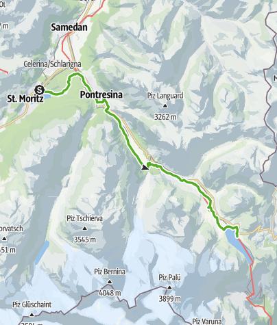 Map / 33.07 St.Moritz - Osp. Bernina, Via Albula/Bernina