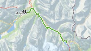 Kaart / 33.07 St.Moritz - Osp. Bernina, Via Albula/Bernina