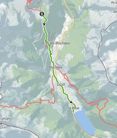 Kaart / 33.09 Cavaglia - Le Prese, Via Albula/Bernina