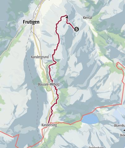 Karte / Auf dem Lötschberg-Panoramaweg