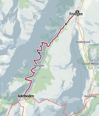 Karte / Durch die Frutigspissen nach Adelboden