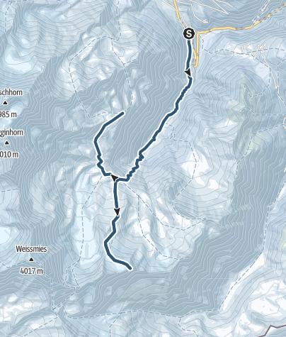 Map / Skitour auf das Tossenhorn (3225 m.ü.M.)