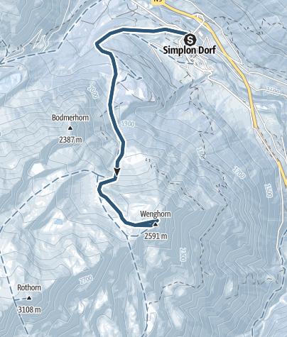 Map / Skitour auf das Wenghorn (2587 m.ü.M.)