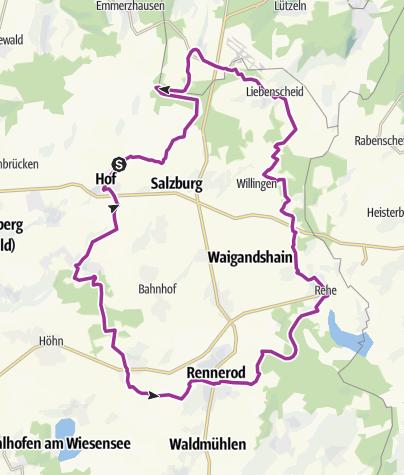 Karte / Fuchskauten-Tour (V)
