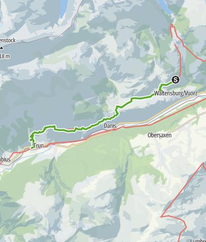 Karte / Via Son Giachen: Andiast - Trun