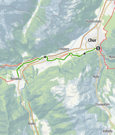 Karte / Via Francisca: Chur - Bonaduz