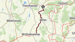 Karte / Bayr-Schwäb-JW: Maria Vesperbild - Kirchheim in Schwaben