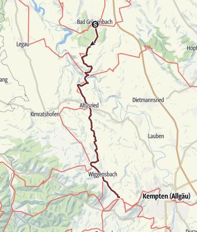 Karte / Bayr-Schwäb-JW: Grönenbach - Ermengerst