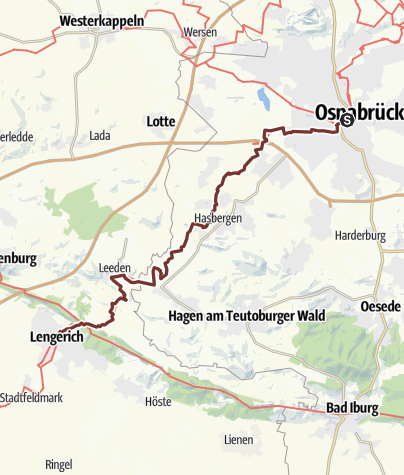 Karte / Via Baltica: Osnabrück - Lengerich