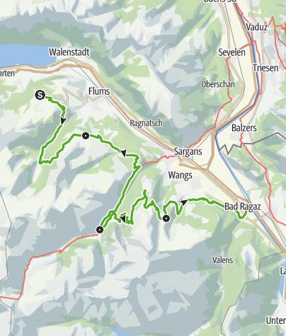 Karte / Heidiland Wander Tour