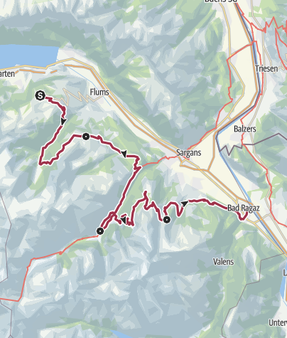 Map / Heidiland Hiking Tour