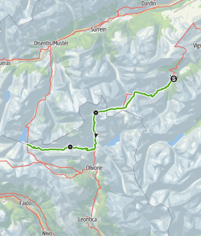 Karte / Greina-Lucomagno (3 Etappen)