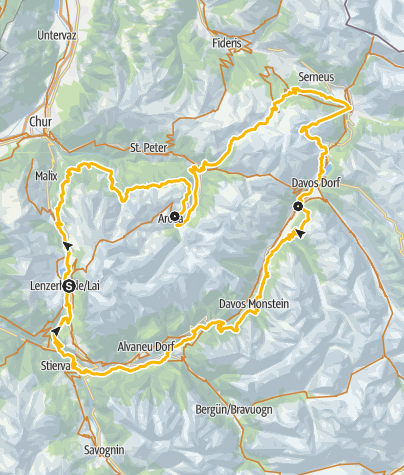 Karte / GrischaTrail