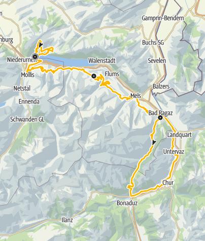 Karte / Heidiland Bike Tour