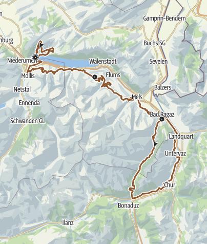 Map / Heidiland Bike Tour
