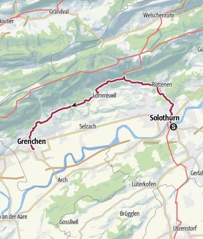 Map / Von Solothurn nach Grenchen