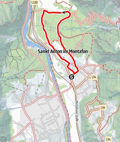 Karte / Gipsweg St. Anton