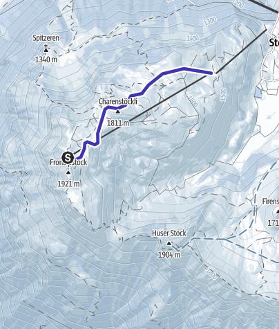 Map / Fronalpstock sledge run