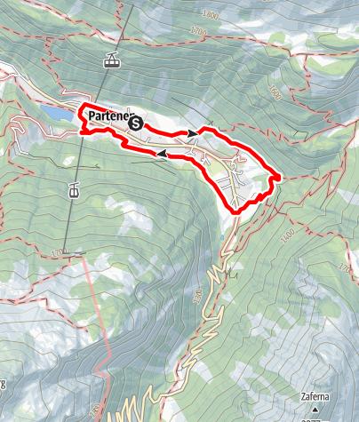 Karte / Energieweg Partenen