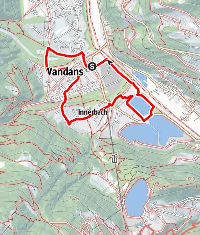 Kaart / Baukulturweg Vandans