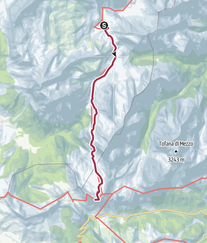 Carte / Rifugio Fanes to Rifugio Lagazuoi