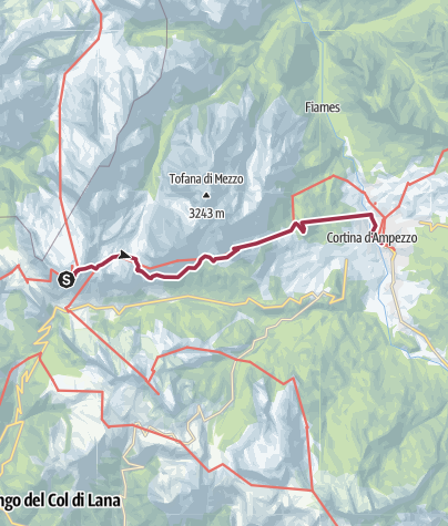 Map / Rifugio Lagazuoi to Cortina