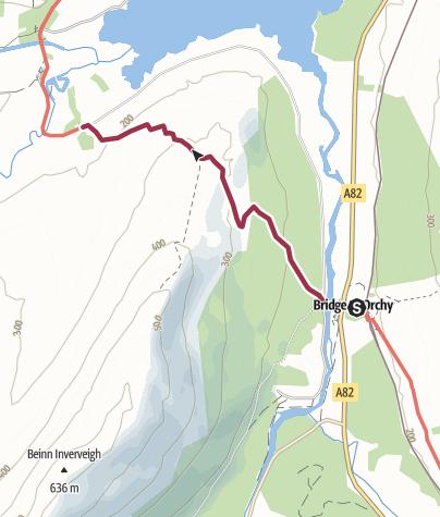 Map / Bridge of Orchy to Inveroran
