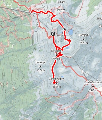 Karte / Von Schruns auf die Zamangspitze