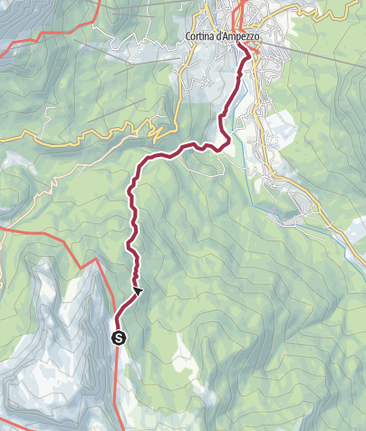 Map / Rifugio Croda da Lago Palmieri to Cortina